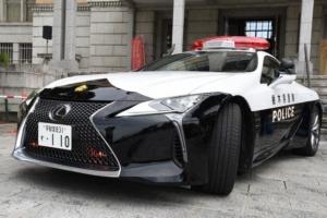 レクサスパトカーが栃木県警に寄贈される